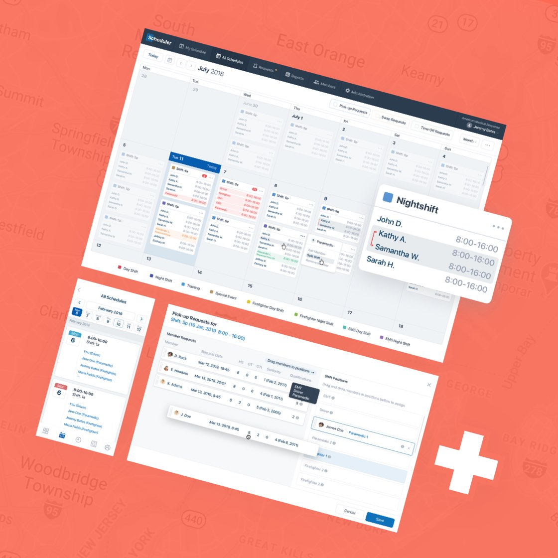 Online Scheduling and Workforce Management for Fire and EMS